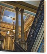 Michigan Capitol Building Wood Print