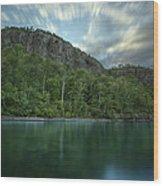 2 Mile Point Cliffs Wood Print