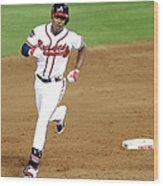 Milwaukee Brewers V Atlanta Braves Wood Print