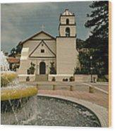 Mission San Buenaventura Wood Print