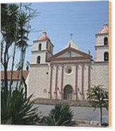 Mission Santa Barbara Wood Print