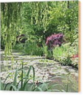 Monets Waterlily Pond Wood Print
