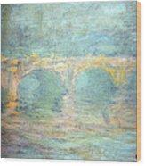 Monet's Waterloo Bridge In London At Sunset Wood Print