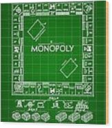 Monopoly Patent 1935 - Green Wood Print