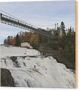 Montmorency Waterfall  Canada Wood Print