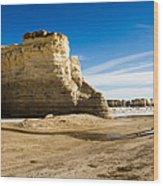 Monument Rocks Of Kansas Wood Print