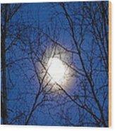 Moon Wood Print by Jennifer Kimberly