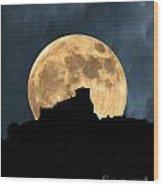 Moonstruck Over Tuscany Wood Print