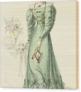 Morning Dress, Fashion Plate Wood Print