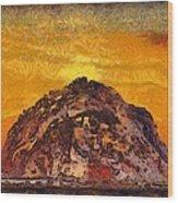 Morro Rock 3007 Wood Print