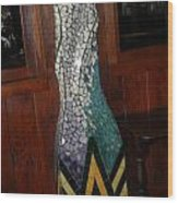 Mosaic Pillar Wood Print by Charles Lucas