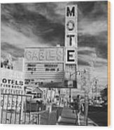 2 Motels Wood Print