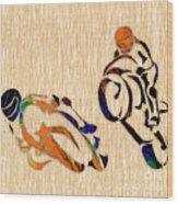Motorcycle Racing Wood Print