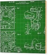 Mouse Trap Board Game Patent 1962 - Green Wood Print