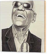 Mr. Ray Charles Wood Print