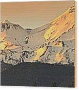 Mt. Shasta Sunset Panorama Wood Print