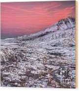 Mt. St. Helens Sunset Wood Print