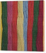 Multicolored Embroidery Thread In Rows Wood Print