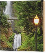 Multnomah Falls Wood Print