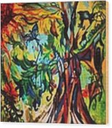 Music In Bird Of Tree Wood Print