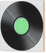 Music Record Wood Print