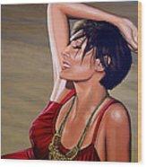Natalie Imbruglia Painting Wood Print