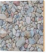 Natural Rock Pebble Backgorund Wood Print