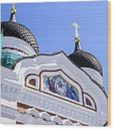 Nevsky Cathedral - Tallin Estonia Wood Print