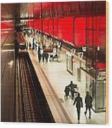 New Hafencity Station In Hamburg Wood Print