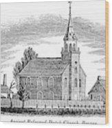 New Jersey Church, 1844 Wood Print