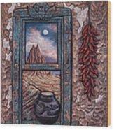 New Mexico Window Wood Print