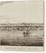 New York City, 1840 Wood Print