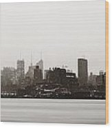 New York City Silhouette Wood Print