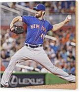 New York Mets V Miami Marlins Wood Print