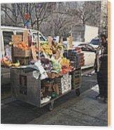New York Street Vendor Wood Print
