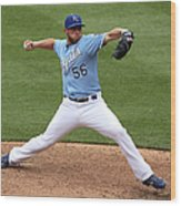 New York Yankees V Kansas City Royals 2 Wood Print