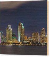 Cityscape San Diego Bay Wood Print