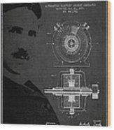 Nikola Tesla Patent From 1891 Wood Print