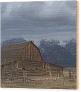 North Moulton Barn Grand Tetons Wood Print