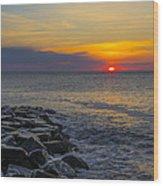 North Wildwood Sunrise Wood Print