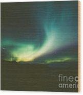 Northern Lights Over Bove Island Wood Print