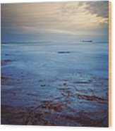 Northumberland Coast Wood Print