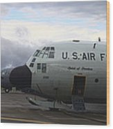 Nose Cone Detail On A Lc-130h Aircraft Wood Print