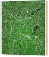 Nuremberg Street Map - Nuremberg Germany Road Map Art On Colored Wood Print