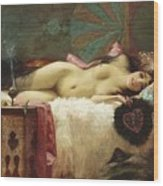 Odalisque Wood Print by Pg Reproductions