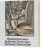 Oil Press, 1568 Wood Print