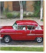 Red Bel Air Wood Print