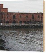 Old Brooklyn Pier Warehouse Wood Print