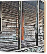 Old Country Front Porch Wood Print