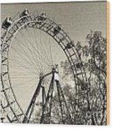 Old Ferris Wheel Wood Print